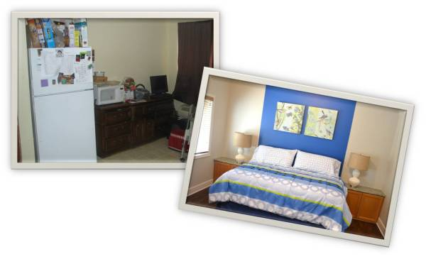 before & after living space